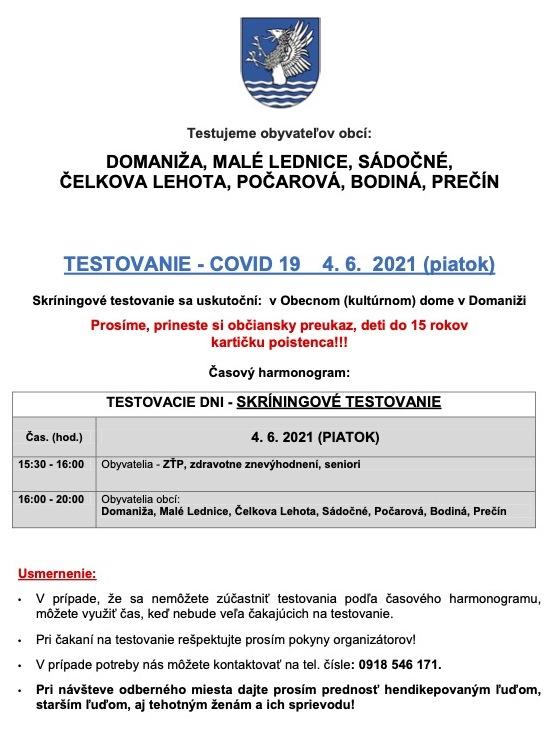 Domaniža-skriningove-testovanie-040621
